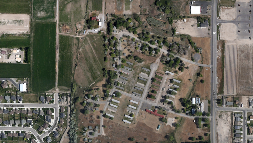 Aerial of the camp site in 2012. Source: Google Maps.