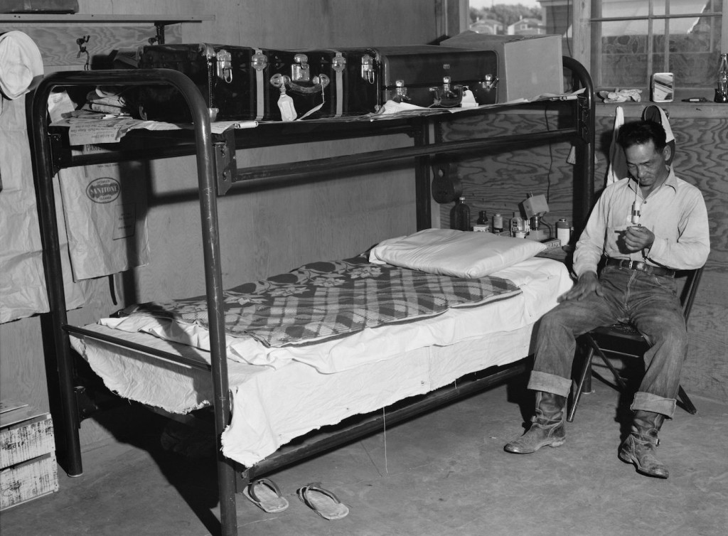 Interior of a barrack apartment. Library of Congress, Prints & Photographs Division, FSA-OWI Collection, LC-USF34-073768-D.