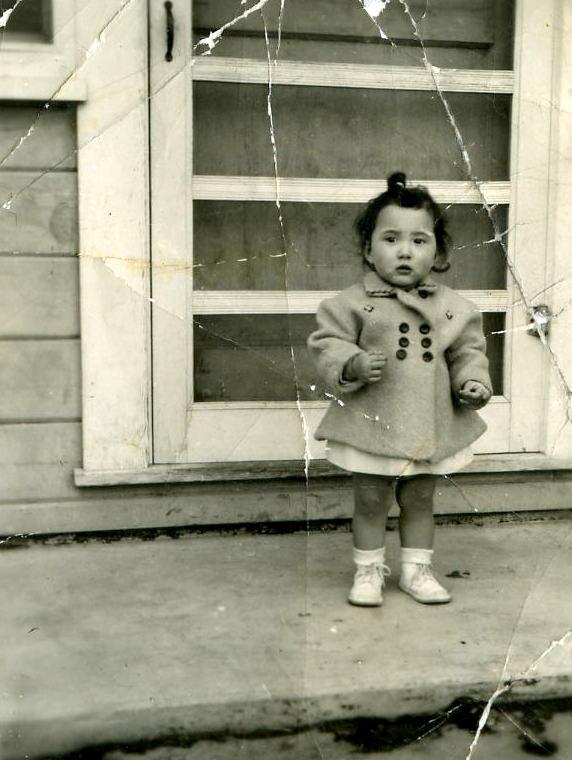 Karen Yonemura at the Twin Falls farm labor camp, circa 1945. Image courtesy of Karen Yonemura Ramirez.