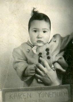 Karen Yonemura at Mindoka, circa 1943. Image courtesy of Karen Yonemura Ramirez.